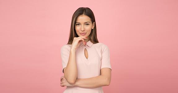 Woman Light Pink Dress